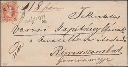 1868 5kr + 10kr Ajánlott Levélen 'PEST TERÉZVÁROS' - Stamps