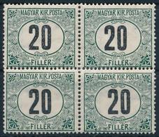 ** 1909 Zöldportó 20f Négyestömb (24.000) - Stamps