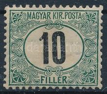 * 1903 Portó 10f (25.000) (pici Falcnyom és Enyhe Törés / Light Fold, Tiny Hinge Remainder) - Stamps