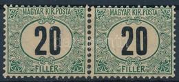 ** 1903 Zöldportó 20f Pár (26.000) (ráncok / Creases) - Stamps