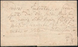 1690 Latin Nyelvű Levél, Teljes Tartalommal - Stamps
