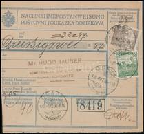 1918 OKT. 26. Postai Utalvány Arató 5f + 20f Bérmentesítéssel 'ÓPÁVA' - Stamps