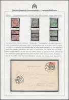 1900 Május Levelezőlap Nemzeti Színűvé összeragasztott Turul Bélyeggel Bérmentesítve 'POZSONY' - 'WIEN' Portózás Nélkül  - Stamps