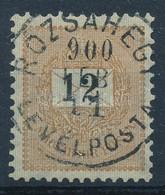 O 1899 Feketeszámú 12kr 4-es Vízjelállás, Luxus Darab (20.000) - Stamps