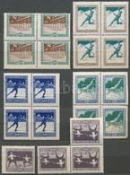 ** * 1925 Sport (I.) Sor 5 értéke 4 Példányban, Közte összefüggések - Stamps