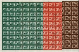 O 1950 DISZ 60 Sor ívdarabokban (15.000) - Stamps