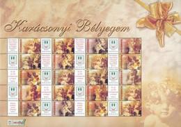 ** 2004 Karácsonyi Bélyegem (I.) - Angyalkák Promóciós Teljes ív Sorszám Nélkül (11.000) - Stamps