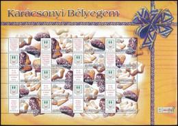 ** 2004 Karácsonyi Bélyegem - Sütemények Promóciós Teljes ív Sorszám Nélkül (11.000) - Stamps