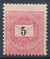 * 1889 5kr Erős Elfogazással - Stamps