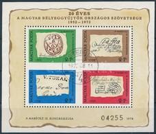 O 1972 Bélyegnap (45.) Blokk Hátoldalán 'A MAGYAR POSTA AJÁNDÉKA' Felirattal - Stamps