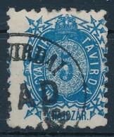 O 1873 Kőnyomat Távirda 5kr Látványos Elfogazással - Stamps