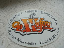 """Publicité """"Autocollant"""" Cabaret - Dîner - Spectacle """"LE WAFOU"""" Bd De Marseille - Autocollants"""