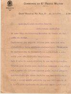 VP13.086 - Brésil - Gabinete - Quartel General Em SAO PAULO 1919 - Lettre De Mr L. BARBE Pour Mr Le Général GAMELIN - Documenti