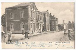 Beauraing Hôtel De Ville Carte Postale Ancienne Animée 1903 - Beauraing