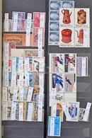 ** Szép ENSZ New York Gyűjtemény Továbbá Kevés USA, Kanada és Új Zéland 12 Lapos Philux A/4 Berakóban - Stamps