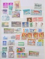 O Nagyon Vegyes Külföldi Bélyegek 8 Lapos A4-es Berakóban - Stamps