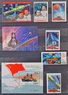 ** Szovjet összeállítás Sok Olimpia és űrkutatás Motívummal A Szovjet Posta 4 Lapos A/4 Ajándék Berakójában - Stamps