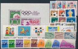 ** 1955-1993 30 Db Képes Bélyeg, Közte Teljes Sorok és összefüggések + 1 Db Blokk Stecklpaon - Stamps