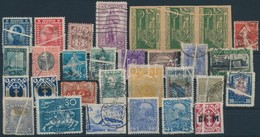 * O 30 Db Papírráncos Bélyeg 19 Különböző Országból / 30 Stamps With Paper Crease From 19 Different Countries - Stamps