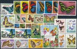 ** 1960-1993 Lepkék  2 Klf Négyestömb + 21 Klf önálló érték + 2 Klf Sor - Stamps