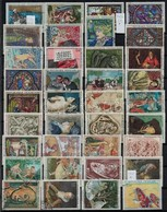 * O Franciaország 81 Db Klf Bélyeg, Főleg Festmények,  Berakólapon - Stamps