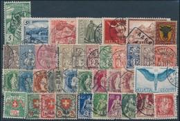 O Kis Klasszikus Svájci összeállítás Stecklapon - Stamps