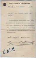VP13.087 - Brésil - Drectoria De Engenharia à RIO DE JANEIRO 1921 - Lettre De Mr ?? Pour Mr Le Général GAMELIN - Manuscripts