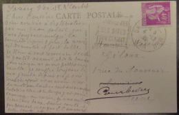 Flamme Daguin Orné Sanary Sur Mer 1938 Sur Carte Postale Animée - Timbre Type Paix 40c YT N°281 - Marcophilie (Lettres)