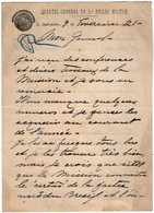 VP13.089 - Brésil - Quartel General Da 5a Regiao Militar S. SALVADOR 1921 - Lettre De Mr V. ACHE Pour Mr Le Gal GAMELIN - Documents