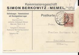 Judaica Judaika Jewish Berkowitz Memel Lithuanie - Lithuania