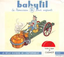 VP-GF.18-686 : BUVARD. BABYFIL. AUTOMOBILE LE FARDIER DE CUGNOT. 1769 - Vloeipapier