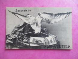 CPA 85 SOUVENIR DE NOIRMOUTIER FANTAISIE MOUETTE MULTI VUES - Noirmoutier