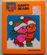 Taquin - Pousse Pousse - Happy Bears - 2 Oursons Faisant Du Patin à Glace - Brain Teasers, Brain Games