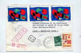 Lettre Recommandee Toulouse Sur Miro - Postmark Collection (Covers)