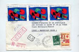 Lettre Recommandee Toulouse Sur Miro - Marcophilie (Lettres)