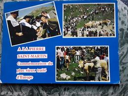 ARETTE, LA PIERRE SAINT MARTIN 64  Commémoration Du Plus Vieux Traité D' Europe Le 13 Juillet, Vache / Cow Tb - Autres Communes