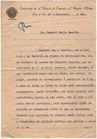 VP13.090 - Brésil - Commando Da 4a Divisao Do Exercito ......JUIS DE FORA 1921 - Lettre De Mr ? Pour Mr Le Gal GAMELIN - Documents