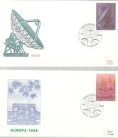 BELG.1988 2283 & 2284 - FDC (Haaltert) : Europa /Europe - 1981-90