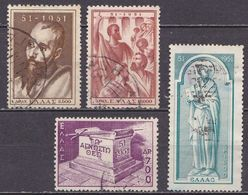 GREECE 1951 St. Pauls 1900 Anniversary Complete Used Set  Vl. 657 / 660 - Gebruikt