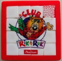 Taquin - Pousse Pousse - Auchan - Le Club Rik & Rok - Lion Et Chouette - Brain Teasers, Brain Games