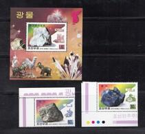 2000 North Korea Stamps Mineral Graphite And Fluorite 2v And S/S - Korea, North