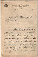 VP13.091 - Brésil - Commando Da Policia Militar à RIO DE JANEIRO ? 1921  - Lettre De Mr ? Pour Mr Le Général GAMELIN - Documenti