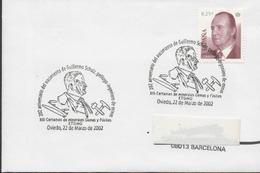 30154. Carta OVIEDO 2002. Guillermo Schulz, Minerales, Fosiles - 1931-Hoy: 2ª República - ... Juan Carlos I