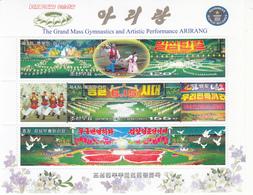 2007 North Korea Stamps Arirang Large Group Calisthenics Sheetlet - Korea, North