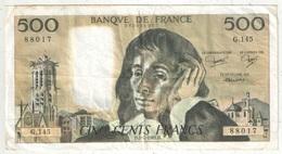 500 F Pascal - 2-7-1981 - G 145 88017 - 1962-1997 ''Francs''