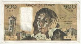 500 F Pascal - 5-9-1974 - S 42 42367 - 1962-1997 ''Francs''