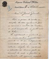 VP13.092- Brésil - Supremo Tribunal Militar à RIO DE JANEIRO 1921 - Lettre De Mr José C. De SARIA Pour Mr Le Gal GAMELIN - Documents
