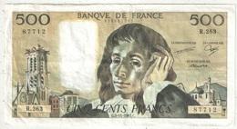 500 F Pascal - 5-11-1987 - R 263 87712 - 1962-1997 ''Francs''