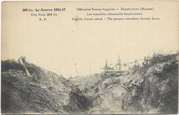 GUERRE 14 18 HERBECOURT OFFENSIVE FRANCO ANGLAISE LES TRANCHEES ALLEMANDES BOULVERSEES - France