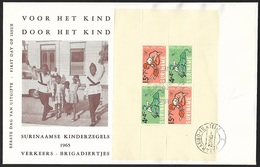 1965 - SURINAME - FDC + Y&T 4 [B&F] + PARAMARIBO - Suriname ... - 1975
